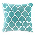 Madison Park Ogee Reversible Square Throw Pillow in Aqua
