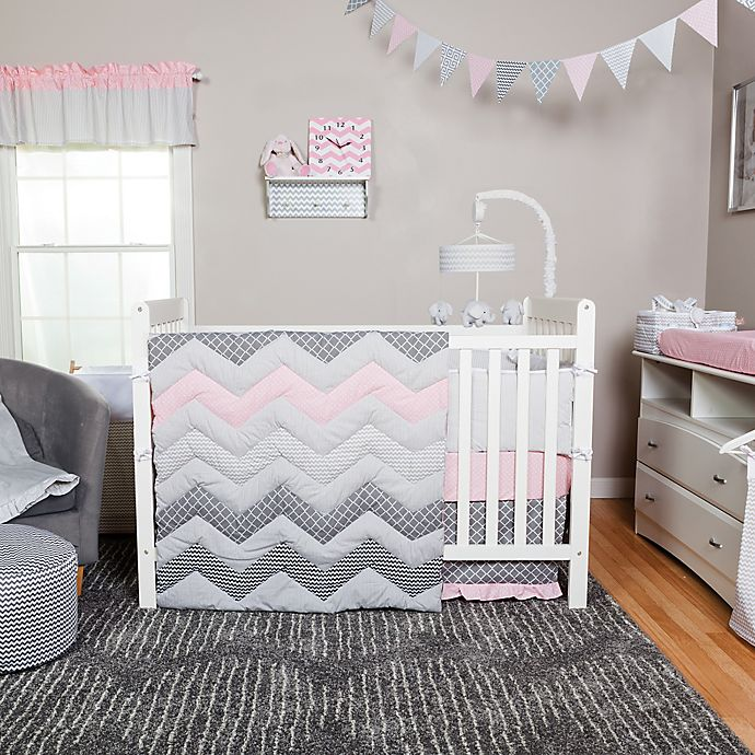 Trend Lab 174 Cotton Candy Chevron 3 Piece Crib Bedding Set