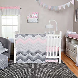Trend Lab Cotton Candy Chevron 3 Piece Crib Bedding Set