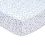 Trend Lab® Grey and White Circles Fitted Crib Sheet