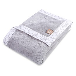 Trend Lab® Grey and White Circles Coral Fleece Framed Receiving Blanket