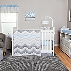 Trend Lab® Blue Taffy Chevron 3-Piece Crib Bedding Set
