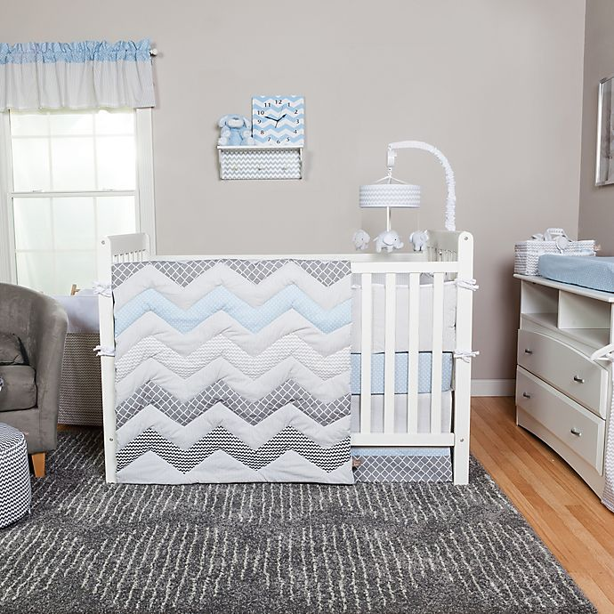 Alternate image 1 for Trend Lab® Blue Taffy Crib Bedding