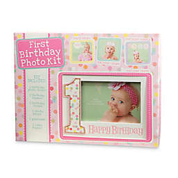 CR Gibson Baby's First Birthday Photo Prop Kit in Pink