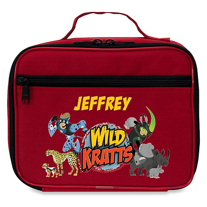 Alternate image 1 for Wild Kratts™ Creature Adventure Lunch Bag in Red