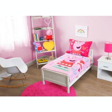 Peppa Pig 4 Piece Toddler Bedding Set In Pink Buybuy Baby