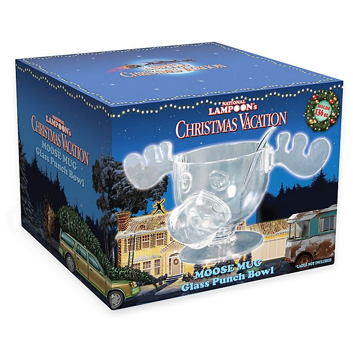 National Lampoons Christmas Vacation Glass Moose Mug And Punch