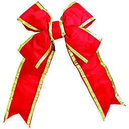 Vickerman 48-Inch x 60-Inch Nylon Outdoor Structural Bow in Red and Gold