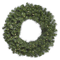 Vickerman Douglas Fir 72-Inch Pre-Lit Wreath with Warm White Lights