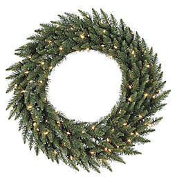 Vickerman 72-Inch Camdon Fir Pre-Lit Wreath with Frosted Warm White LED Lights