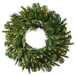 Vickerman Cashmere Pine Pre-Lit Christmas Wreath with Clear Lights