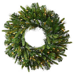 Vickerman 30-Inch Cashmere Pine Pre-Lit Christmas Wreath with Clear Lights