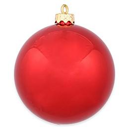 Vickerman 12- Inch Shiny Red Ball Ornament