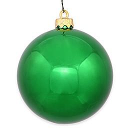 Vickerman 12-Inch Shiny Green Ball Ornament