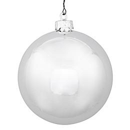 Vickerman 12-Inch Shiny Ball Ornament in Silver