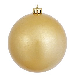 Vickerman 12-Inch Gold Ball Candy Finish Ornament
