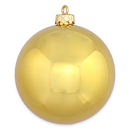 Vickerman 12-Inch Shiny Gold Ball Ornament