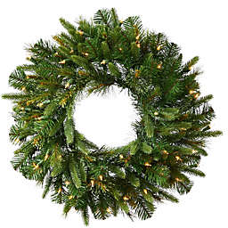 Vickerman 42-Inch Cashmere Pine Pre-Lit Christmas Wreath with Clear Lights
