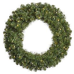 Vickerman Grand Teton 48-Inch Dura-Lit Pre-Lit Wreath with Clear Lights