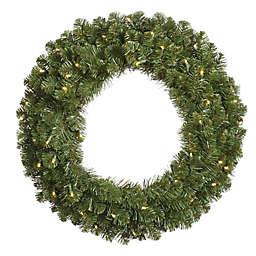 Vickerman Grand Teton 60-Inch Dura-Lit Pre-Lit Wreath with Clear Lights