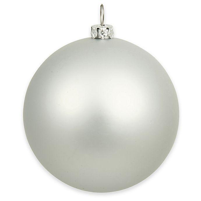 Alternate image 1 for Vickerman 15.75-Inch Matte Silver Ball Ornament