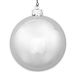 Vickerman 15.75-Inch Shiny Silver Ball Ornament