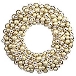 Vickerman 24-Inch Shiny Gold Wreath