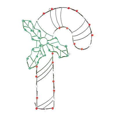 Vickerman 48-Inch Pre-Lit Wire Candy Cane Outdoor Decoration