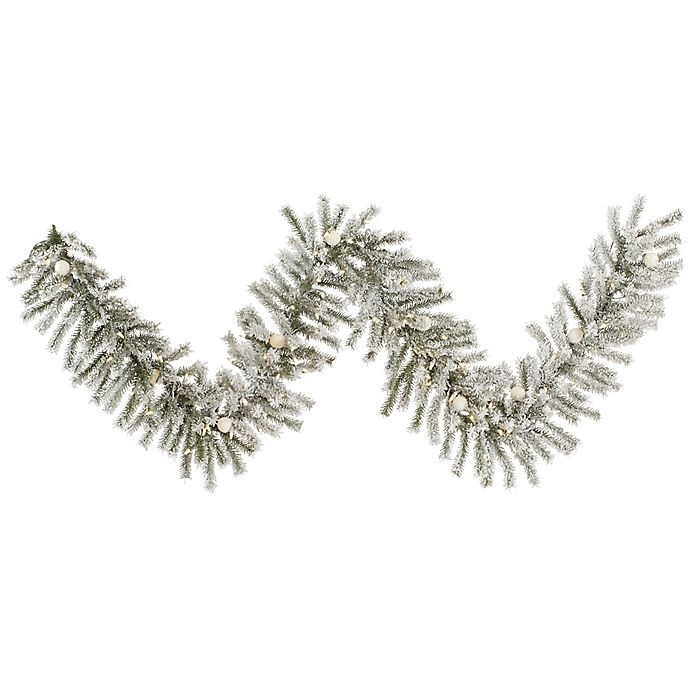 Vickerman 9 Foot Flocked London Fir Pre Lit Garland With