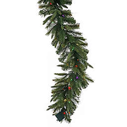 Vickerman 9-Foot Cashmere Pine Garland in Green Pre-Lit with Dura-Lit Multicolor Lights