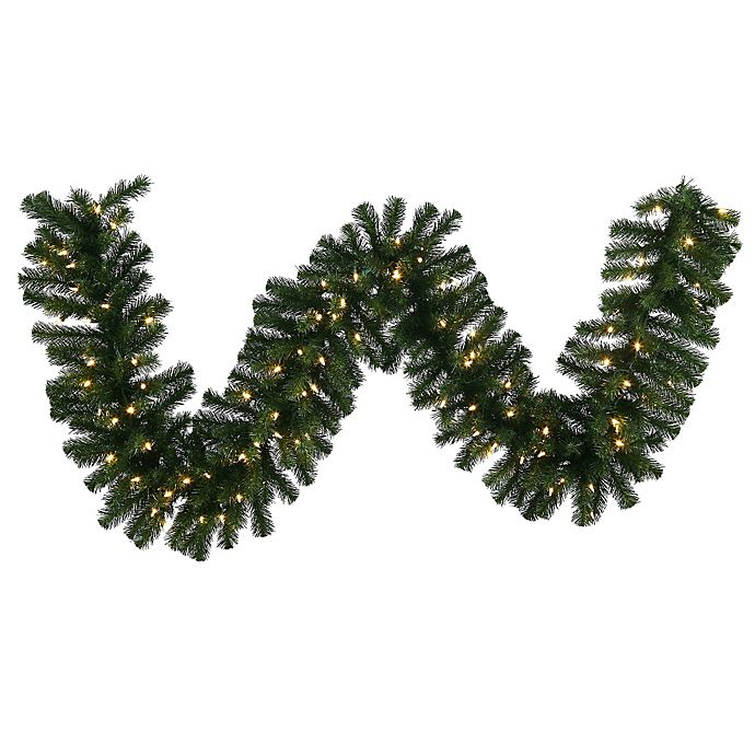 Alternate image 1 for Vickerman Douglas Fir 50-Foot Garland with Warm White LED Lights