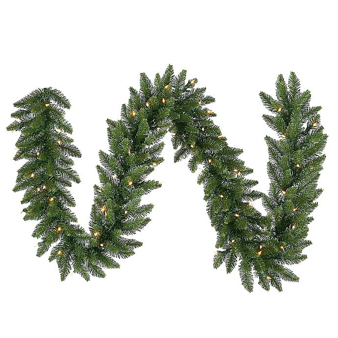 Alternate image 1 for Vickerman Camdon Fir Garland in Green with Multicolor LED Lights
