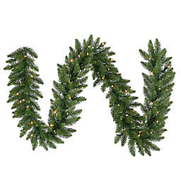 Vickerman Camdon Fir Garland in Green with Multicolor LED Lights