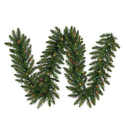 Vickerman Camdon Fir 50-Foot x 14-Foot Garland in Green with Multicolor LED Lights
