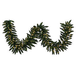 Vickerman Camdon Fir Garland in Green with Warm White LED Lights