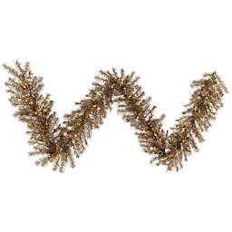 Vickerman Rust Tinsel 9-Foot Pre-Lit Garland with Clear Dura-Lit Lights