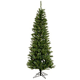 Vickerman Salem Pine Pre-Lit Pencil Christmas Tree with Warm White LED Lights