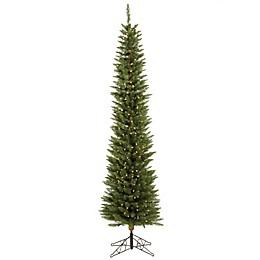 Vickerman Durham Pole Pine Pre-Lit Christmas Tree with Warm White LED Lights