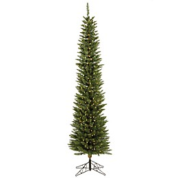 Vickerman Durham Pole Pine Pre-Lit Pine Christmas Tree with Clear Lights