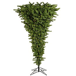 Vickerman 5.5-Foot Green Pre-Lit Upside Down Christmas Tree with Warm White Lights