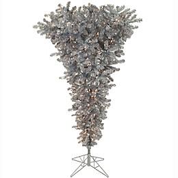 Vickerman 7.5-Foot Silver Pre-Lit Upside Down Christmas Tree