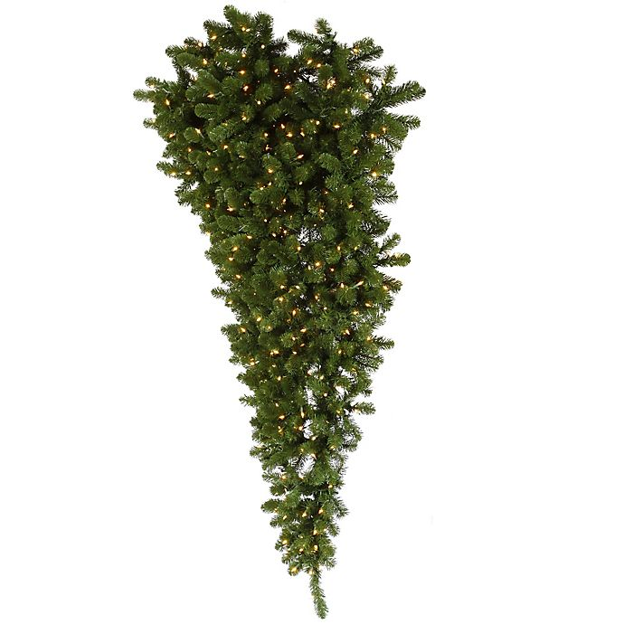 Alternate image 1 for Vickerman 6-Foot American Upside Down Pre-Lit Half Christmas Tree with Clear Lights