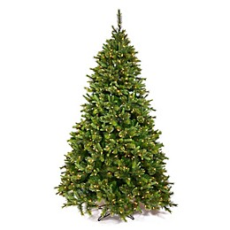 Vickerman 7.5-Foot Cashmere Pine Pre-Lit Slim Christmas Tree with Clear Lights