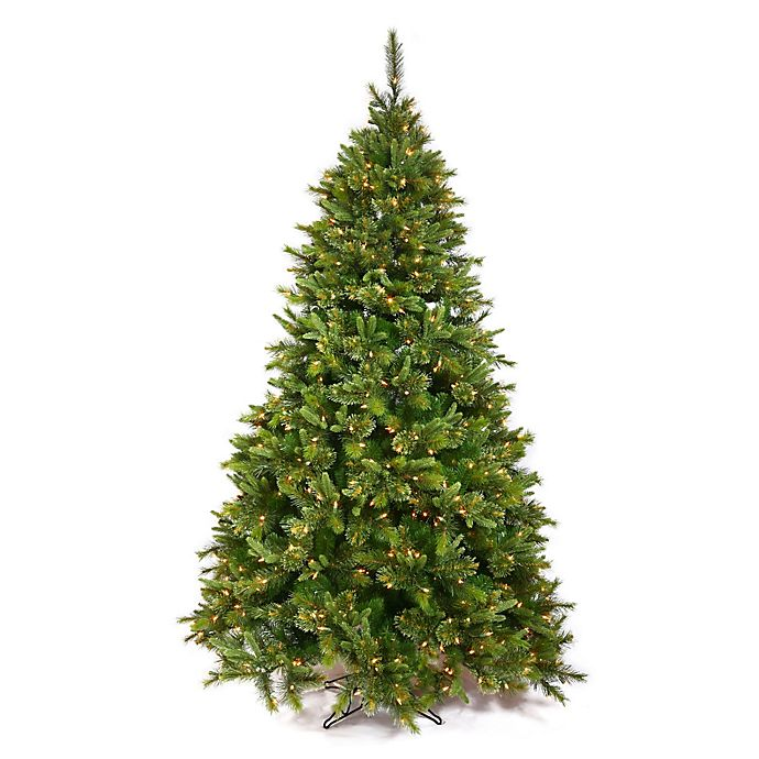 Alternate image 1 for Vickerman Cashmere Pine Pre-Lit Christmas Tree with Warm White LED Lights