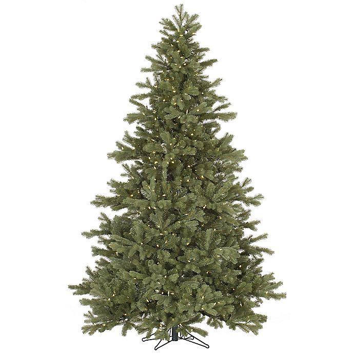 White Fir Christmas Tree: Vickerman 7.5-Foot Frasier Fir Pre-Lit Christmas Tree With