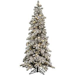 Vickerman 6-Foot Flocked Kodiak Pre-Lit Christmas Tree with White LED Lights