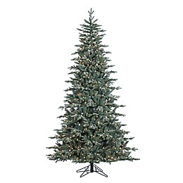 Vickerman 7.5-Foot Crystal Frost Balsam Pre-Lit Christmas Tree with Clear Dura-Lit Mini Lights