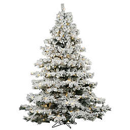 vickerman flocked alaskan pre lit christmas tree with warm white lights
