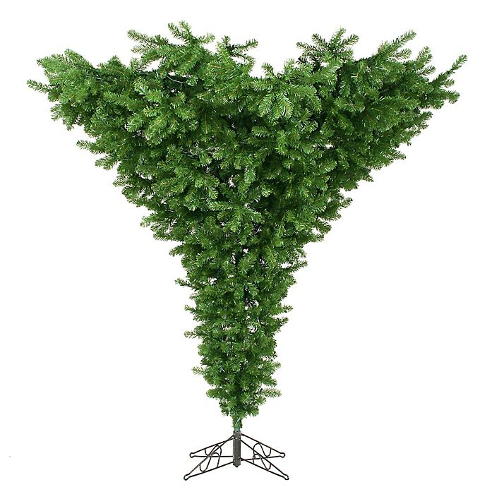 Alternate image 1 for Vickerman 7.5-Foot Upside Down Christmas Tree with Stand