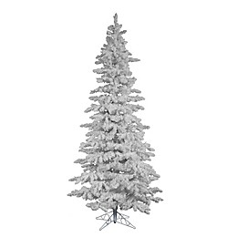 Vickerman 7.5-Foot Flocked Spruce Christmas Tree in White